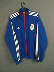 Great Britain Olympic Games Jacket Size XL Mens Blue Adidas O53399 ig93
