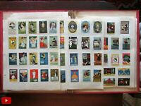 American Poster Stamp Collection c.1915 Wonderful lot 830 stamps Art Deco