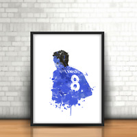 Frank Lampard - Chelsea Inspired Football Art Print Design The Blues Number 8