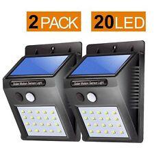20 LED Solar Powered PIR Motion Sensor Wall Security Light Lamp Garden Outdoor