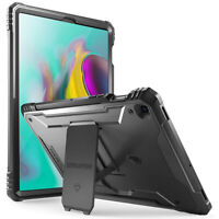 Galaxy Tab S5E 2019 Tablet Rugged Case w/ Kickstand,  Poetic Hard Cover Black