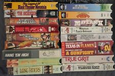 Lot: VHS Western VHS Movies (18 VHS Movies)