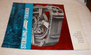 Vintage tractor brochure, Sterling Rotaped Tracks dated 1964 mint