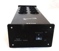 Dynavox X4100B Hifi-Steckdosenleiste schwarz 10 Ampere Netzfilter