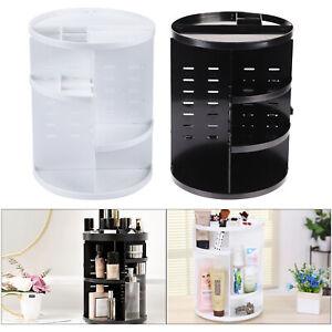 Acrylic Rotating Makeup Organiser Cosmetic Storage Box Perfume Display Stand UK