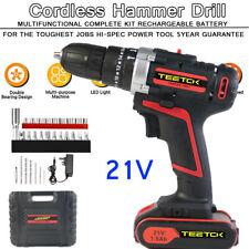 21V Max 2 speeds Cordless Drill Driver Hammer and Impact Driver Combo Kit 30pcs