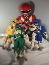 Vintage Power Rangers 6 Pc Mixed Lot Plush 1993 red white blue pink green yellow