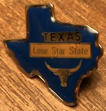 Texas Lone Star State Longhorn Souvenir Collectible Lapel Hat Pin Pinback