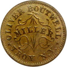 1863 Troy New York Civil War Token Oliver Boutwell Miller NGC MS62 Ex Bowers