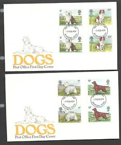 GB 1979 Dogs Gutter pairs FDC