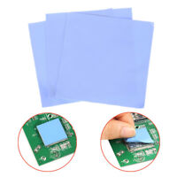 3Pcs Blue 100mm*100mm*0.5mm Computer GPU CPU Conductive Silicone Thermal Pad RS