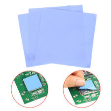 3Pcs Blue 100mm*100mm*0.5mm Computer GPU CPU Conductive Silicone Thermal Pad;
