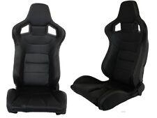 1 Paar Klappbare Sportsitze Schalensitze Leder schwarz + weiße Naht