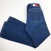 Vintage 2001 Tommy Hilfiger Jeans Juniors Size 7 Bootcut Medium Wash Back Logo