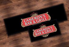 PERSONALISED STELLA ARTOIS BEER BAR RUNNER IDEAL FOR HOME PUB MAT PARTY OCCASION