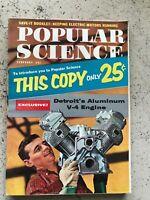 Vintage Popular Science V-8 Engine, Britannica, February