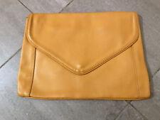 Borsa pochette busta gialla vintage vtg yellow envelope clutch bag