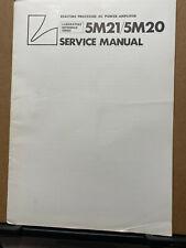 Original Service Manual for the Luxman 5M21 5M20 Power Amplifier Amp *corner
