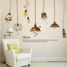Light Bulb Living Room Decor Creative Background Removable Wall Stickers Hot