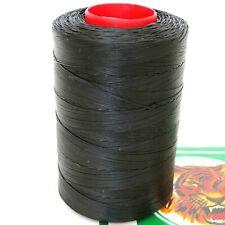 Tiger Thread 25 Waxed Flat Braided Leather Sewing Thread Ritza 0.8 Black JK 23
