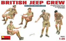 Miniart 1:35 British Jeep Crew WWII Figures Model Kit