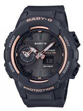 Casio Baby-G * BGA230SA-1A Dual Time Black & Rose Gold Watch Women COD PayPal