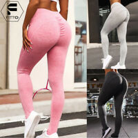 Women High Waist Yoga Fitness Push Up Pants Gym Sports Leggings Running Trousers