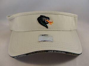 NCAA Alabama Birmingham UAB Blazers Vintage Adjustable Strap Visor Hat Khaki