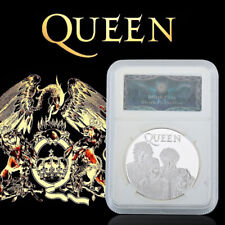 WR Queen Silver Coin COA Slab Freddie Mercury Music Fan Memorabilia GiftS