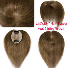 Women Hair Piece Topper Hairpiece 8A Human Hair Top Wig Toupee For Thinning Hair
