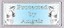 PROTECTED BY ANGELS wide fridge magnet -  SO COOL !