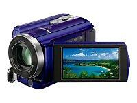 SONY Handycam DCR-SR68 HD Camcorder - Open Box, BLUE - 027242788923