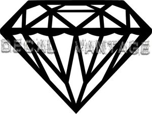 Diamond Vinyl Sticker Decal Bling Classy - Choose Size & Color