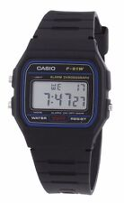 Reloj Deportivo Original Casio 30M Resistente al Agua Correa De Resina Cristal de Cuarzo F91W-1