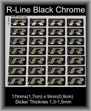 3 x trozo universalmente VW r-line logotipo R-rline sticker emblema badge tipo bc 17x9mm