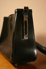 "Ladies' Guess Shoulderbag Black Small Faux Leather Zippered 10"" x 6"" Nice"