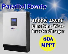 5kva 4000w Solar inverter + 80A MPPT solar charger + 60A battery charger