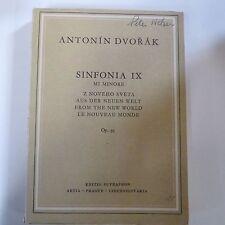 mini pocket score DVORAC Op 95 Sinfonia IX 9 mi minore, new world, supraphon