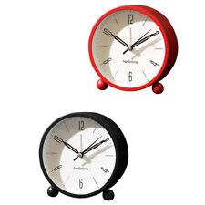 2 pcs Silencieux Réveil Enfants Étudiants Chambre Coude Analogique Horloge
