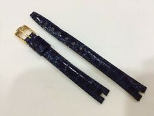 Gucci Blue leather watch strap 10mm X 8mm Authentic strap Mint condition .