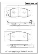 Disc Brake Pad Set-CERAMIC PADS Front Dash 4 Brake CD864