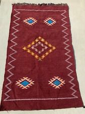 Authentic Moroccan Handmade Berber Rug Tribal Beni Ourain Atlas Mountains