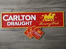 Carlton Draught pvc rubber bar mat  and coaster set runner barmat Pickup