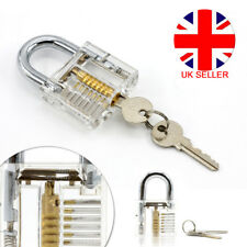 Transparent  Clear Visable Practice Padlock Lock Opener Unlocking Training Keys