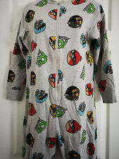 Boys Next Angry Birds Onesy Sleepsuit Pjs Two In All Size 9 Years