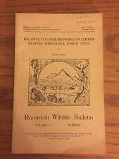 Roosevelt Wildlife Bulletin, Howard Dean, Adirondacks, October 1937, Vol 10 No 2