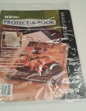 Set of 6 -PROTECT A BOOK COVER Plastic Magazine Covers w/ Magnifier  Book Mark