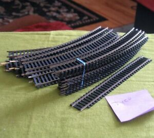 Tyco HO Scale 23 Curved Track 1 Straight, 1 Short