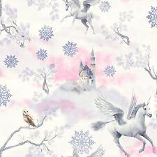 Conte de Fée Licorne Papier Peint-Lilas-ARTHOUSE 667801 Neuf Filles Paillettes Effet