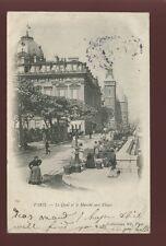 France PARIS Quai Marche aux Fleurs Flower Market 1904 u/b PPC